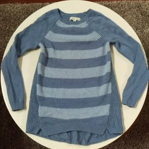Blue Scoop Neck Sweater